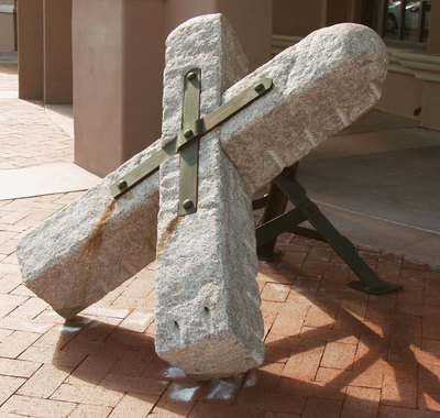 Fred Borcherdt, Terminal Marker, Stone and Forged Steel, 42