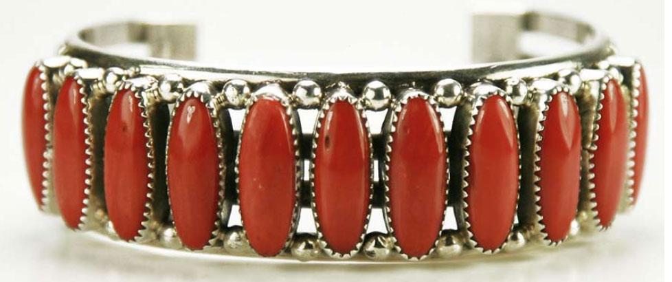 Navajo Coral Bracelet