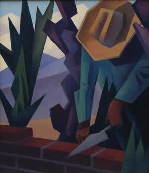 Ed Mell, Brick Layer, Oil on Linen, 26