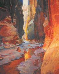 Gregory Hull, Canyon Walls Paria River, Oil, 50 x 40