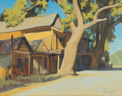 """Maynard Dixon, Old China Town, (September 1937), oil on canvas board, 16 x 20"""""""