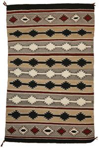 "Navajo Chinle textile, c. 1930, 73"" x 49"""