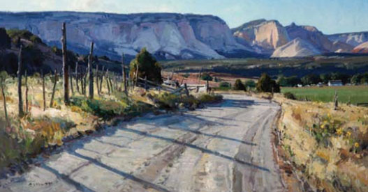 Josh Elliott, Cove road, oil, 15
