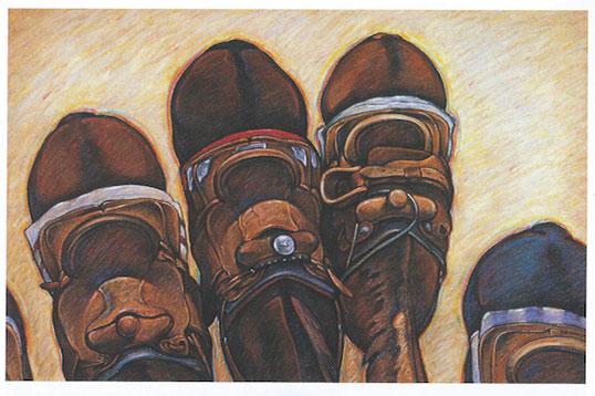 Howard Post, Custom Saddles, Oil on Canvas, 24
