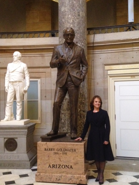 Deborah Copenhaver-Fellows, Barry Goldwater, bronze, monument