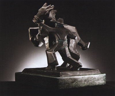 Ed Mell, Sidestepper, Bronze Edition of 30, 11.5