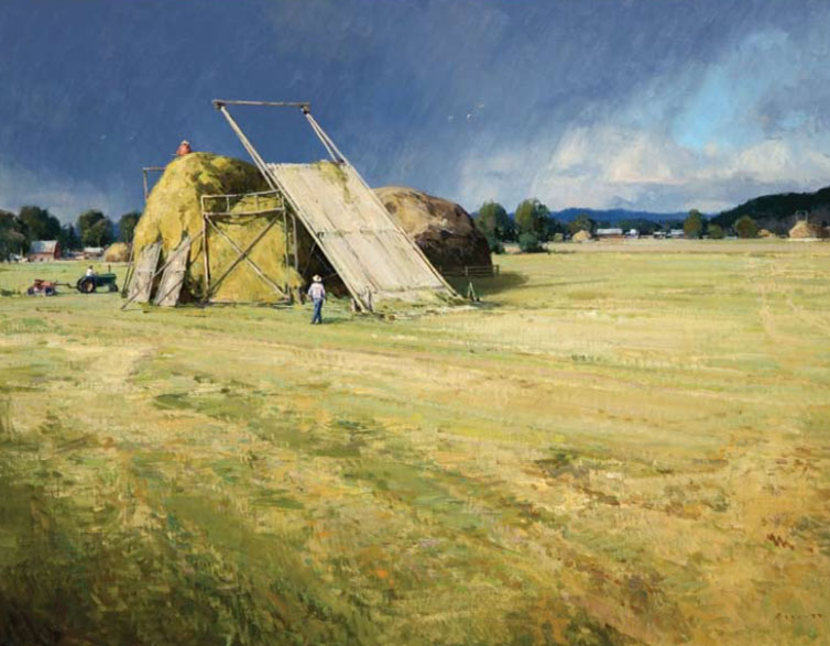Josh Elliott, Hay Season, oil, 30