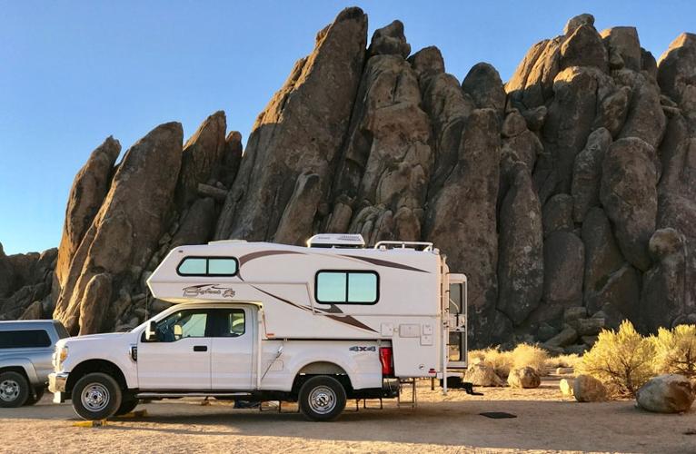 Bigfoot-Camper-in-Alabama-Hills-California