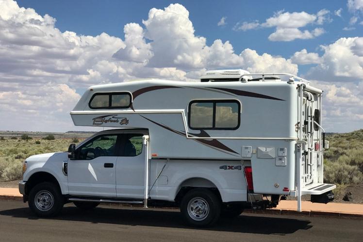 Bigfoot-Camper-new-Ford-truck-Wupatki-Arizona