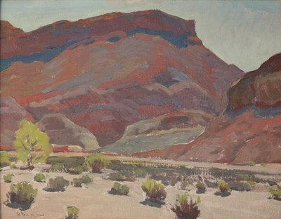 "Glenn Dean, Red Mesa, Paria Canyon, UT, Oil on Canvas Panel, 16"" x 20"""