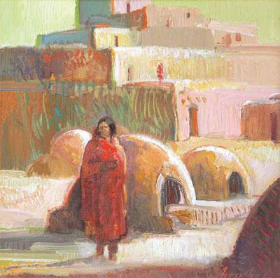 """Francis Livingston, High Desert Light, Oil on Board, 12"""" x 12"""""""