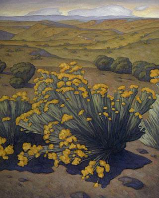 Howard Post, High Desert, Oil on Canvas, 36
