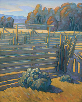 "Howard Post, Behind the Working Chutes, Oil on Canvas, 30"" x 24"""
