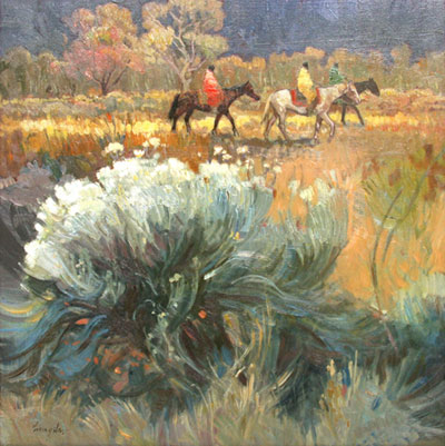 Francis Livingston, In Fields of Sage, oil on panel, 18 x 18