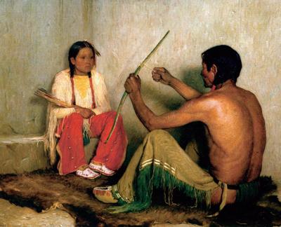 "J. H. Sharp, Broken Bow, Oil, 45"" x 60"" Courtesy Buffalo Bill Historical Center"