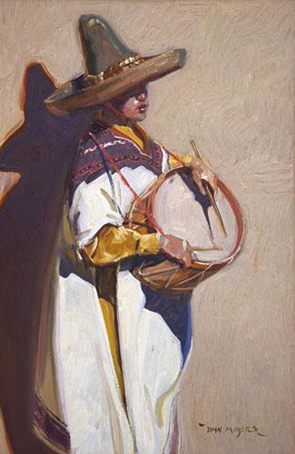 """John Moyers, Little Drummer Boy, oil on panel, 30 x 20"""""""