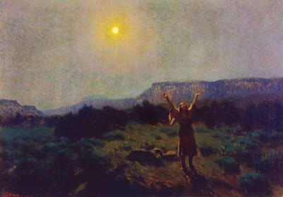 "J. H. Sharp, Lament for the Dead, oil, 33 x 47"" PHOTO COURTESY GILCREASE MUSEUM, TULSA, OK"