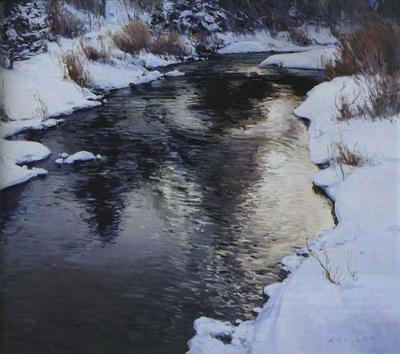 Josh Elliott, Clearwater Winter, Oil, 20