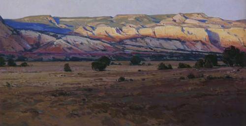 Josh Elliott, Last Light Ghost Ranch, Oil, 12