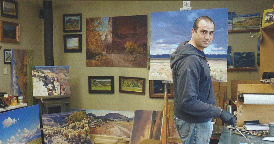 Josh Elliott in his studio