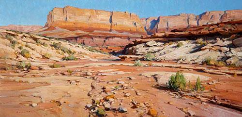 """Josh Elliott, Vermillion Kaleidoscope, Oil on Canvas, 24"""" x 48"""""""