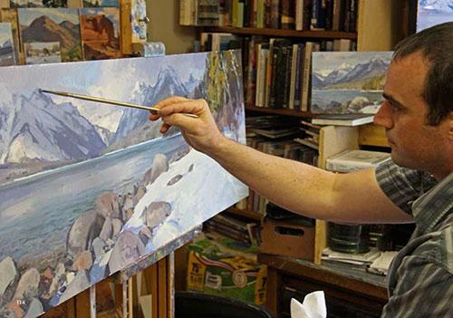 Josh Elliott in his studio