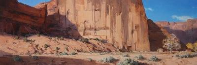 """Josh Elliott, Desert Life, Oil on Panel, 18"""" x 54"""""""