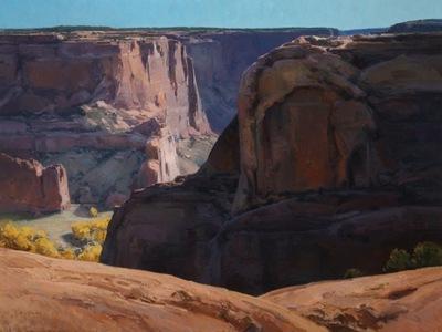 "Josh Elliott, Canyon Echoes, Oil on Panel, 30"" x 40"""