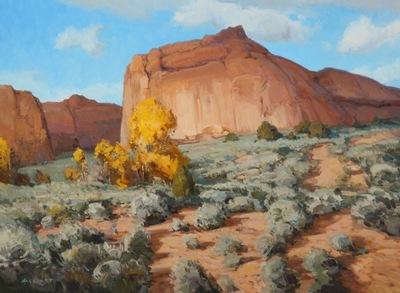 """Josh Elliott, Monolith, Oil on Panel, 18"""" x 24"""""""