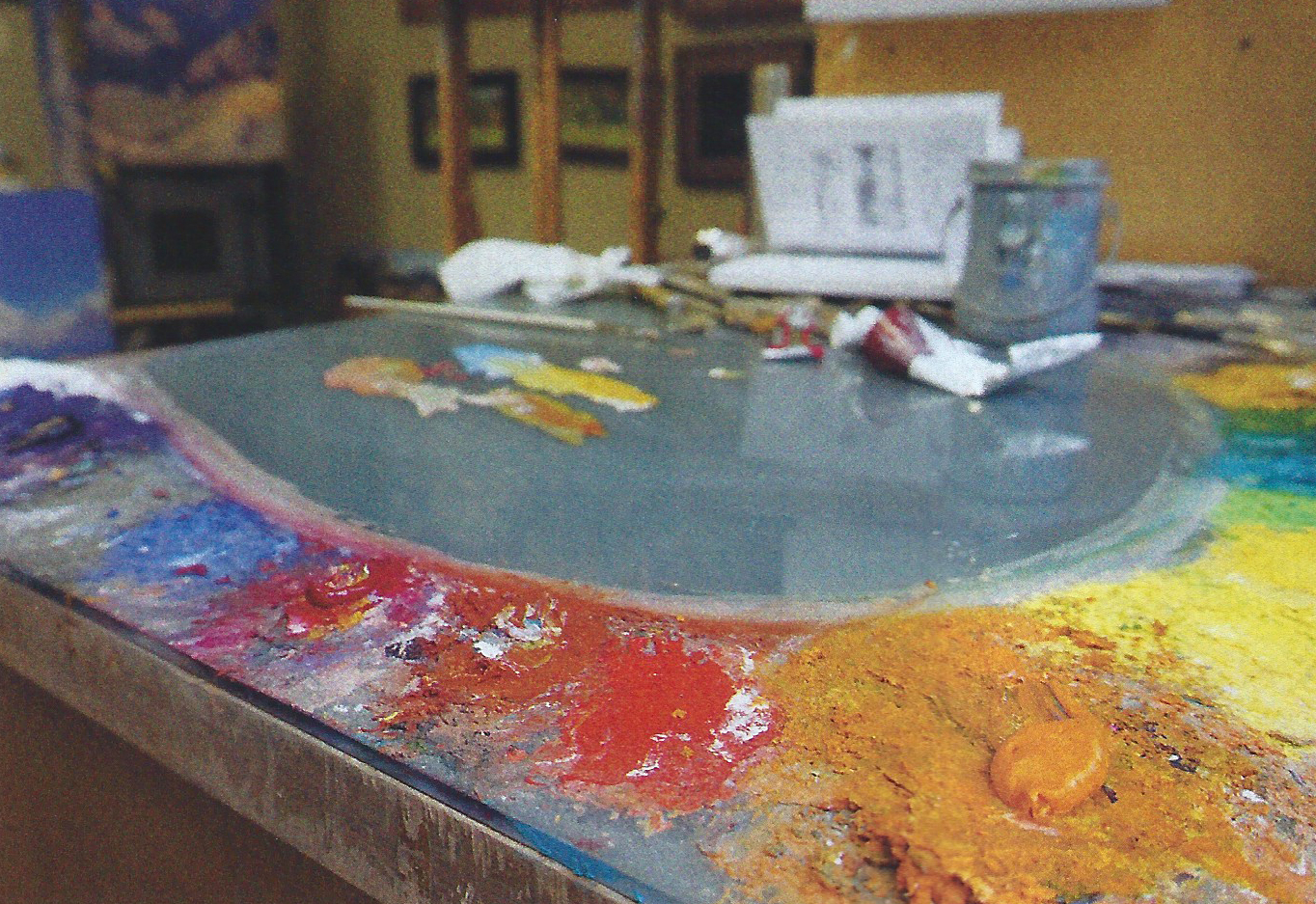 Josh Elliott's studio palette