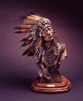 """Susan Kliewer, Spirit Wind, Bronze, 29"""" x 14"""" x 21"""""""