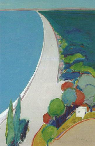 "Gregory Kondos, Kalamata Beach, Greece, 2006, oil on canvas, 48""x36"""