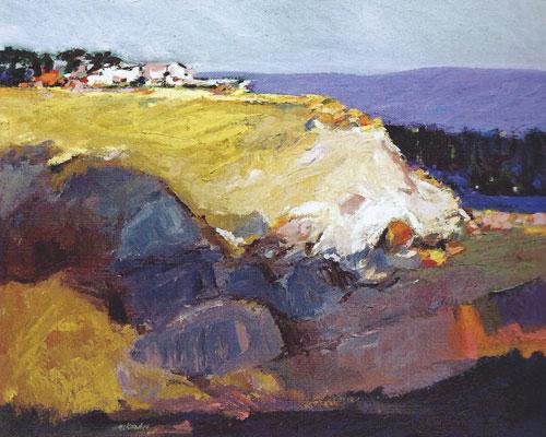 "Gregory Kondos, Landscape, Fair Oaks, 1960, oil on canvas, 24""x30"""