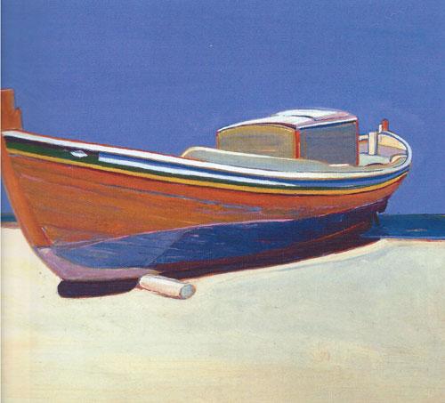 """Gregory Kondos, Caique, 1966, oil on canvas, 24""""x28"""""""