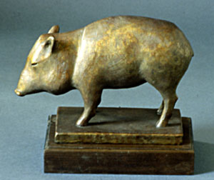 """Shirley Thomson-Smith, Life's a Boar, Bronze Edition of 30, 11"""""""