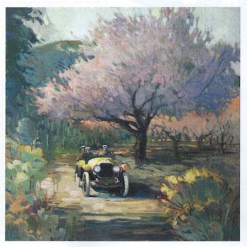 "Francis Livingston, Apricots, oil on panel, 24""x24"""