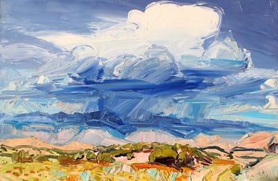 Louisa McElwain, Crescendo, Oil on Canvas, 40