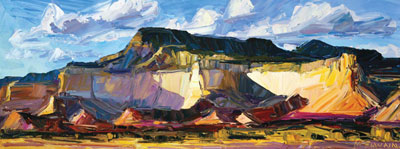 Louisa McElwain, Ghost Ranch, Late Afternoon, Oil on Canvas, 24