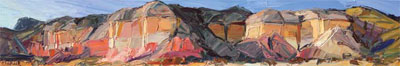 Louisa McElwain, Shining Cliffs, Ghost Ranch, Oil on Canvas, 12