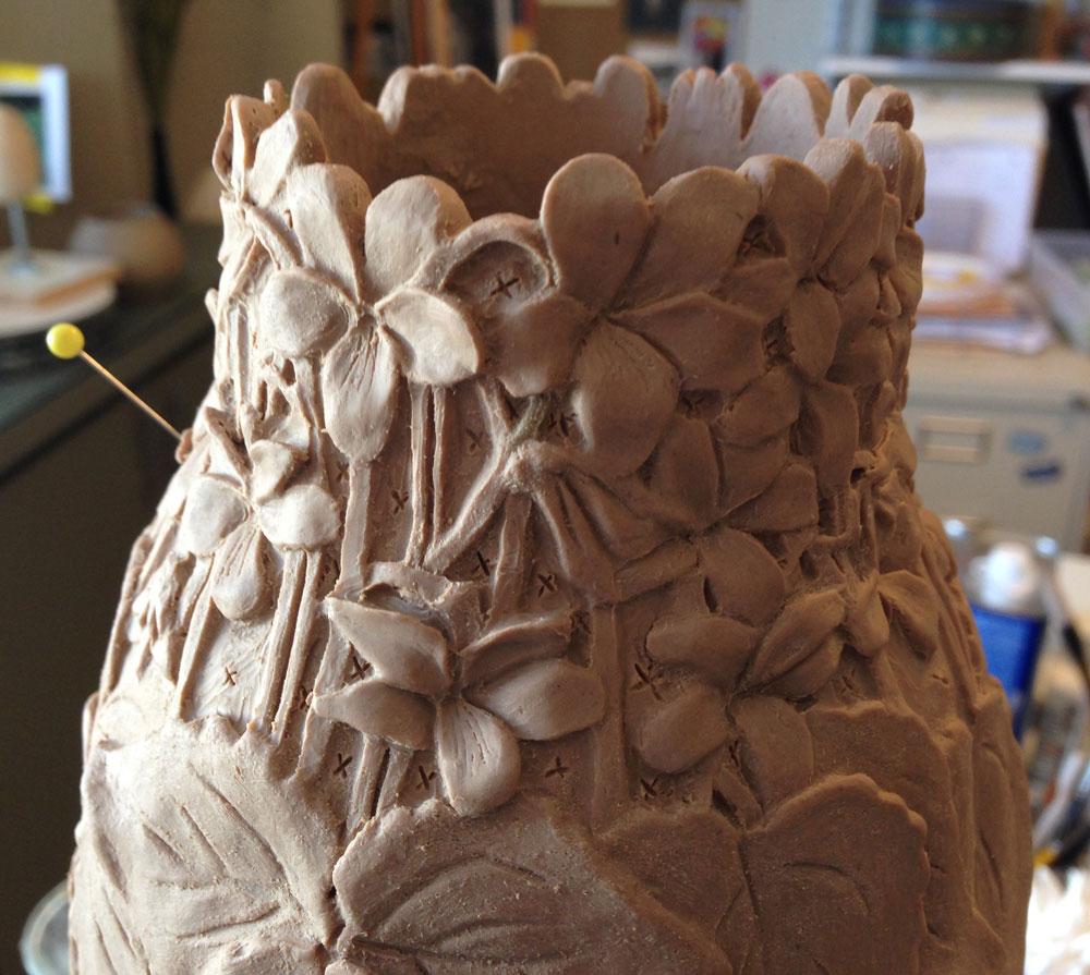 Carol Alleman, Love Blooms, Original Clay