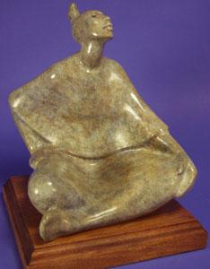 "Shirley Thomson-Smith, Madaya, Bronze Edition of 35, 14"" x 10"" x 10"""
