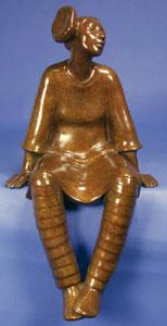 "Shirley Thomson-Smith, Maria, Bronze Edition of 36, 18"" x 9"" x 10"""