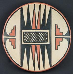 "Maria and Popovi Polychrome Plate, circa 1956-58, 5.75"""