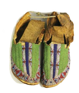 Sioux Moccasins Green Quills