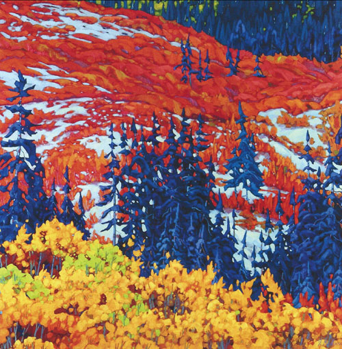 "Dominik Modlinski - Kluane Foothills, oil on canvas, 48"" x 48"""