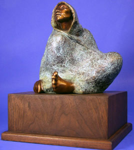 """Shirley Thomson-Smith, My Sister, Bronze Edition of 30, 10"""" x 10"""" x 9.5"""""""