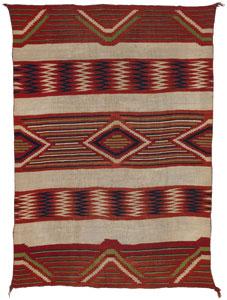 "Navajo Classic Serape, c. 1860, 73"" x 52"""