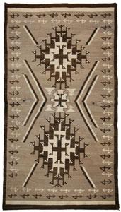 """Navajo Crystal textile, c. 1910, 95"""" x 54"""""""