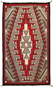 "Navajo Klagetoh textile, c. 1920, 79"" x 48"""