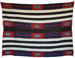 "Navajo Classic Second Phase Chiefs Blanket, c. 1860, 56"" x 73"""